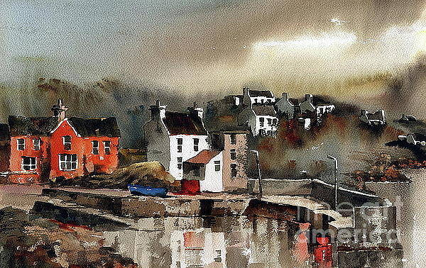 Painting - Glandore Harbour  West Cork by Val Byrne