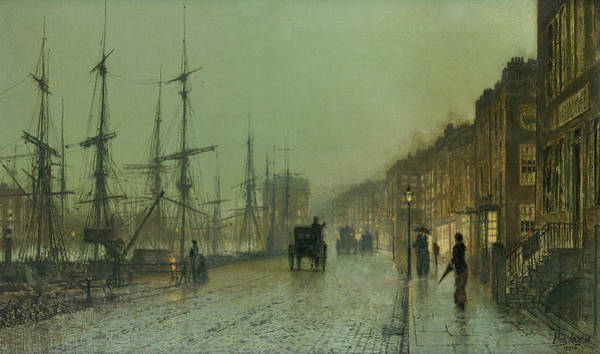 Painting - Glasgow Docks  by John Atkinson Grimshaw
