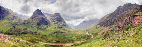 Bidean Nam Bian Photograph - Glencoe Panorama by Ray Devlin