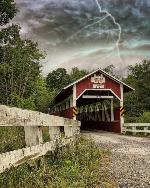 Somerset County Photograph - Glessner Covered Bridge by Rusty Glessner