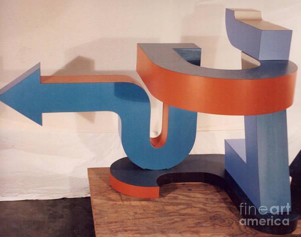 Sculpture - Go Around/come Around by Robert F Battles