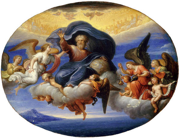Painting - God The Father by Circle of Pierre Mignard I