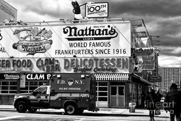 Photograph - Going To Nathan's In Coney Island by John Rizzuto