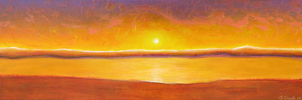 Painting - Gold Sunset by Jaison Cianelli