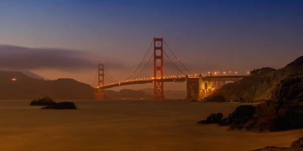 Us West Coast Photograph - Golden Gate Bridge At Sunset by Melanie Viola