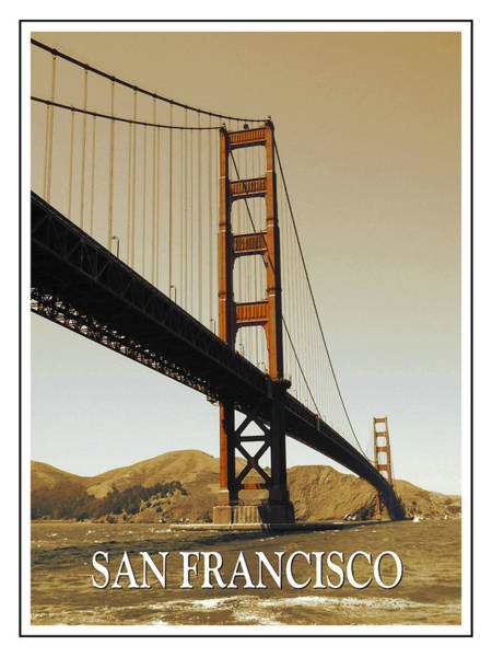 Photograph - Golden Gate Bridge San Francisco Poster by Peter Potter