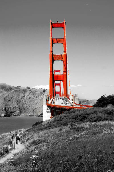 Road Photograph - Golden Gate by Greg Fortier