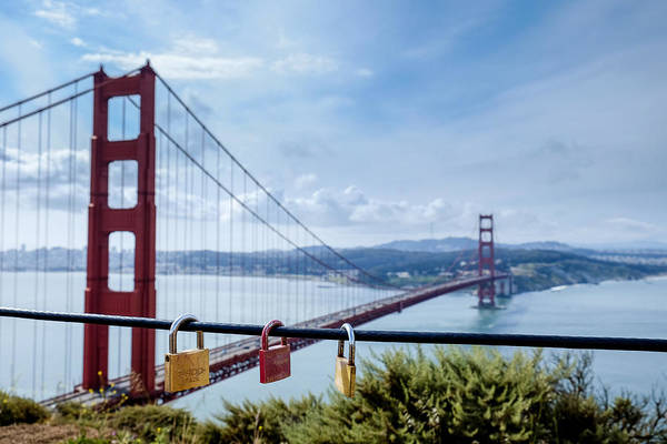 Photograph - Golden Gate Love Locks by John McArthur