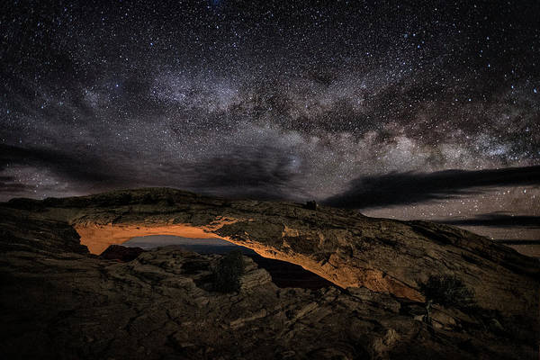 Wall Art - Photograph - Golden Mesa Night by Robert Fawcett