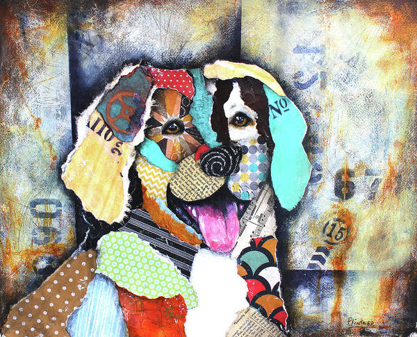 Mixed Media - Golden Retriever by Patricia Lintner