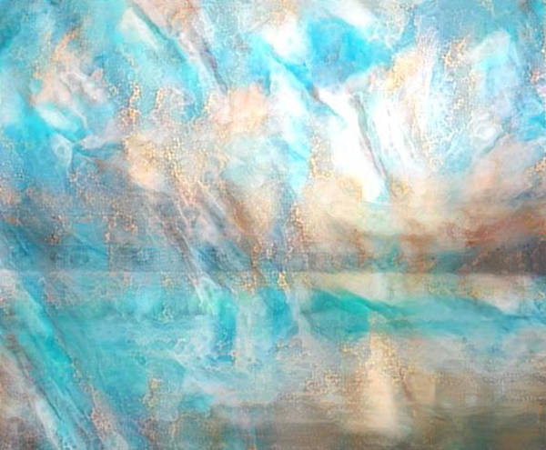 Carribean Islands Digital Art - Golden Seas Gs-13a by Artistic Mystic