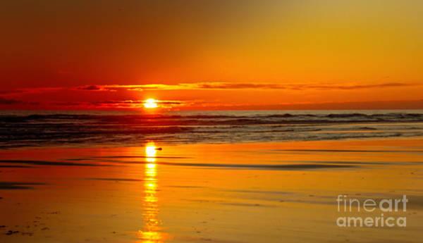 Marine Layer Photograph - Golden Sunset by Robert Bales