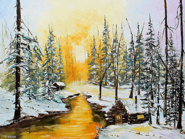 Golden Winter Art Print