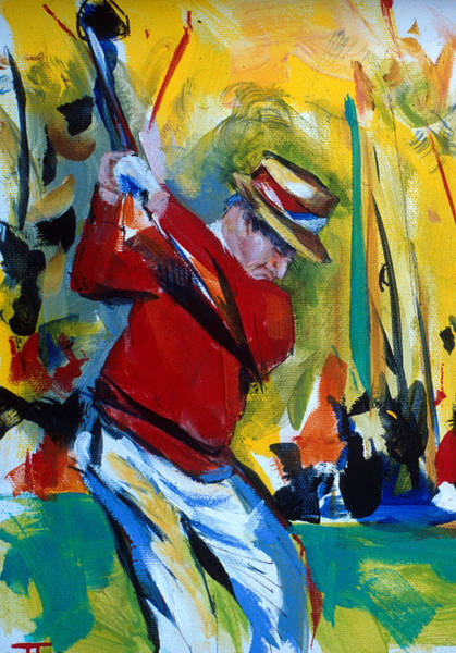 Painting - Golf Red by John Jr Gholson