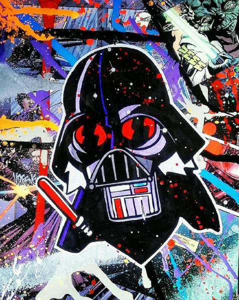 Streetart Mixed Media - Goon Vader by Whut Bm