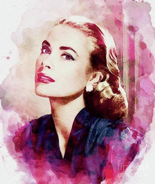 Wall Art - Digital Art - Grace Kelly, Vintage Actress by John Springfield