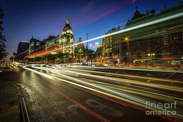 Photograph - Gran Via Madrid Spain by Pablo Avanzini