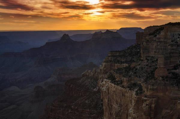 North Rim Photograph - Grand Canyon Sunset  by Saija Lehtonen