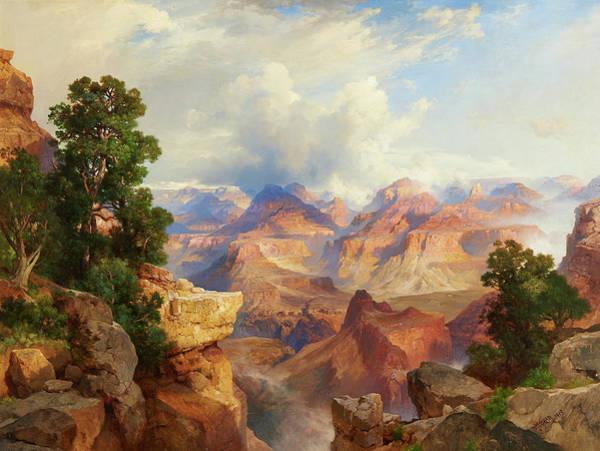 Moran Painting - Grand Canyon by Thomas Moran
