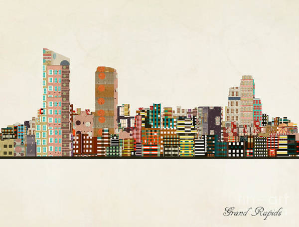Wall Art - Painting - Grand Rapids Michigan by Bri Buckley