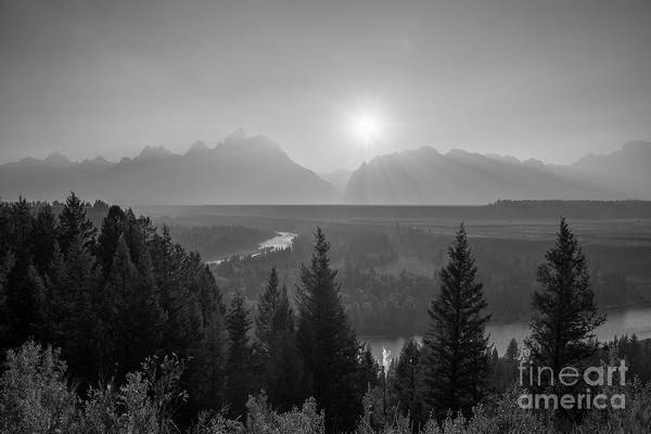 Moose Art Photograph - Grand Teton Sunset At Snake River  by Michael Ver Sprill