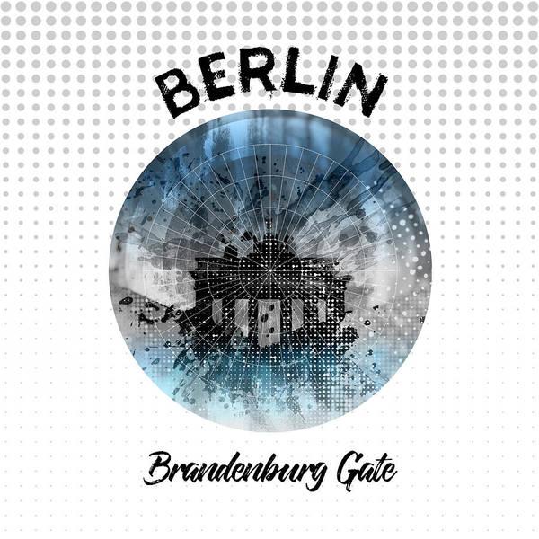 Brandenburg Gate Photograph - Graphic Art Berlin Brandenburg Gate by Melanie Viola