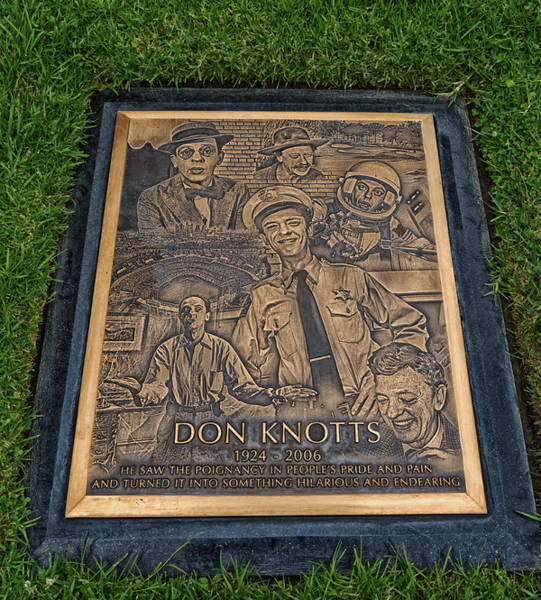 Famous Cemeteries Photograph - Gravesite Of Don Knotts - Westwood Cemetery by Mountain Dreams