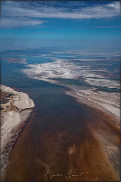 Photograph - Great Salt Lake by Erika Fawcett