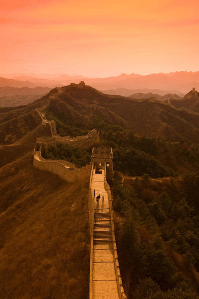 Gloria Photograph - Great Wall Of China by Gloria & Richard Maschmeyer - Printscapes