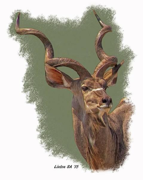 Digital Art - Greater Kudu by Larry Linton