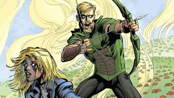 Green Digital Art - Green Arrow by Super Lovely