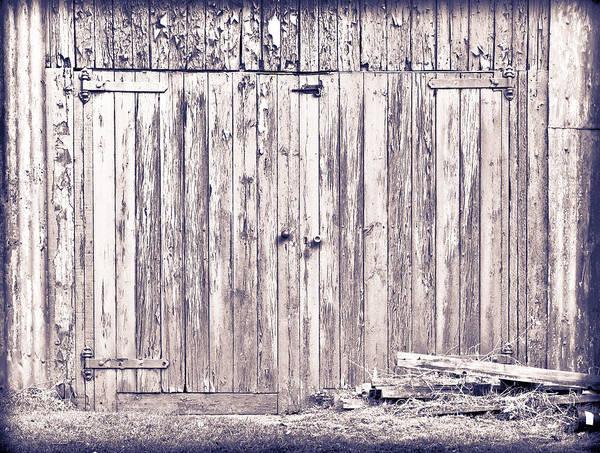 Hinges Photograph - Green Barn Door by Tom Gowanlock