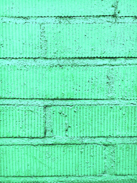 Realistic Photograph - Green Brick Wall by Tom Gowanlock