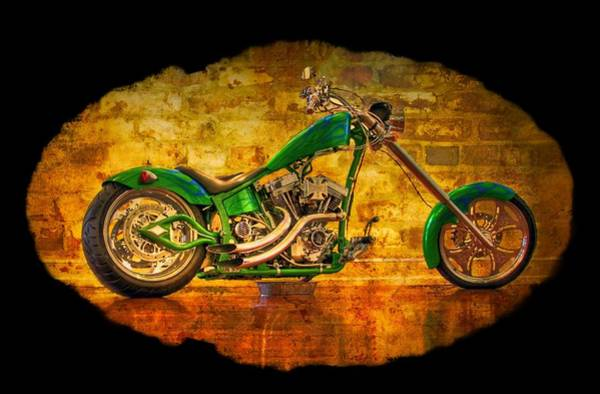 Photograph - Green Chopper by Debra and Dave Vanderlaan