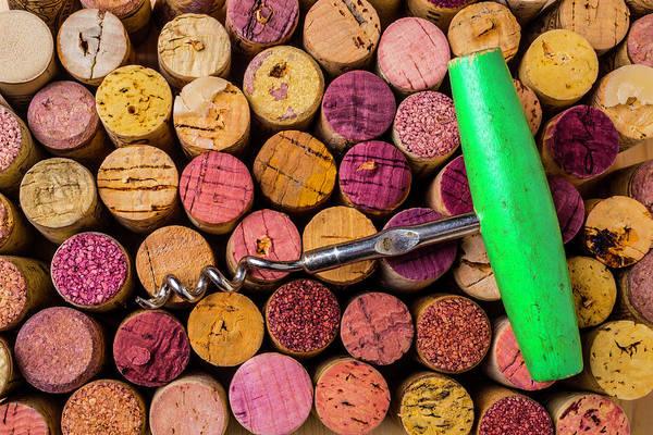 Bottle Green Photograph - Green Corkscrew by Garry Gay