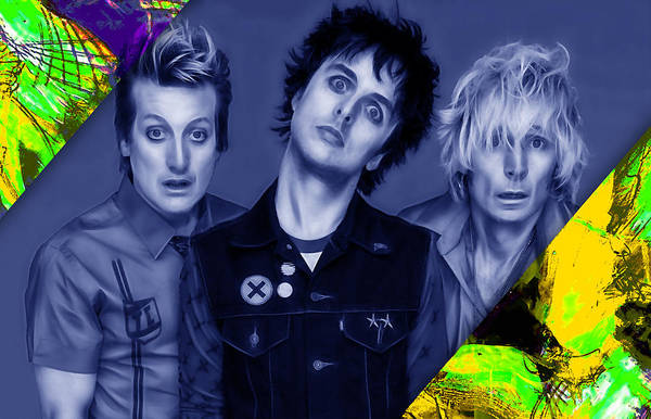 Wall Art - Mixed Media - Green Day Collection by Marvin Blaine