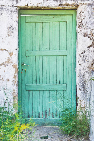 Village Gate Photograph - Green Door by Tom Gowanlock