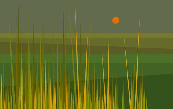Digital Art - Green Fields by Val Arie