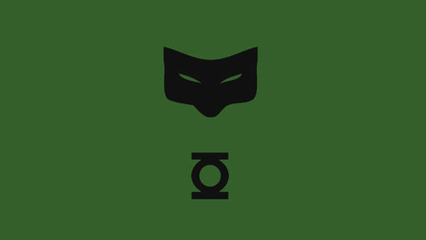 Green Digital Art - Green Lantern by Maye Loeser