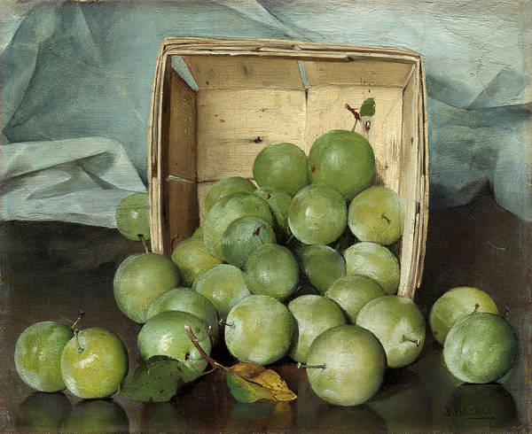 Green Plums Art Print