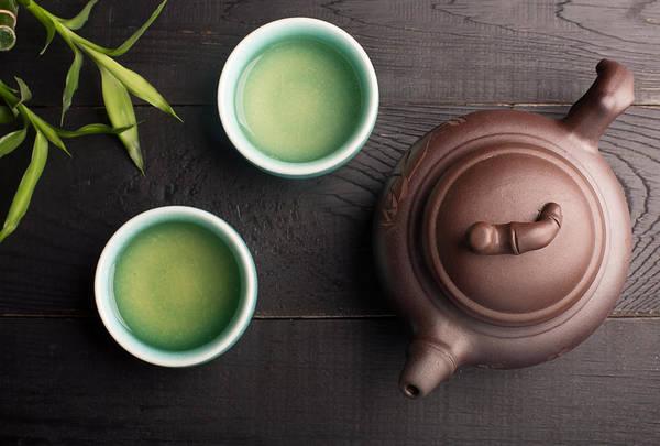 Tea Photograph - Green Tea In The Tea Cups by Vadim Goodwill