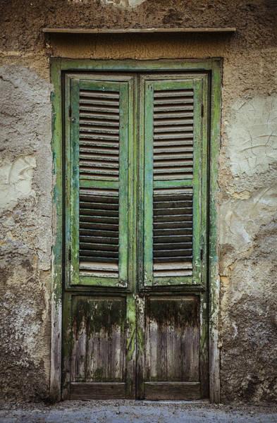 Photograph - Green Window Shutters by Maria Heyens