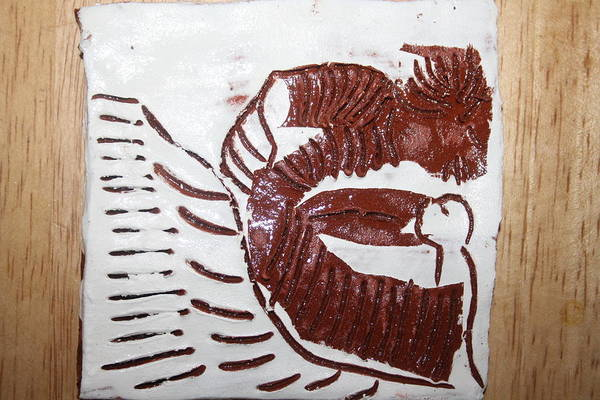 Ceramic Art - Greeting 10 - Tile by Gloria Ssali