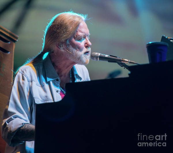 Allman Brothers Band Photograph - Gregg Allman With The Allman Brothers Band by David Oppenheimer
