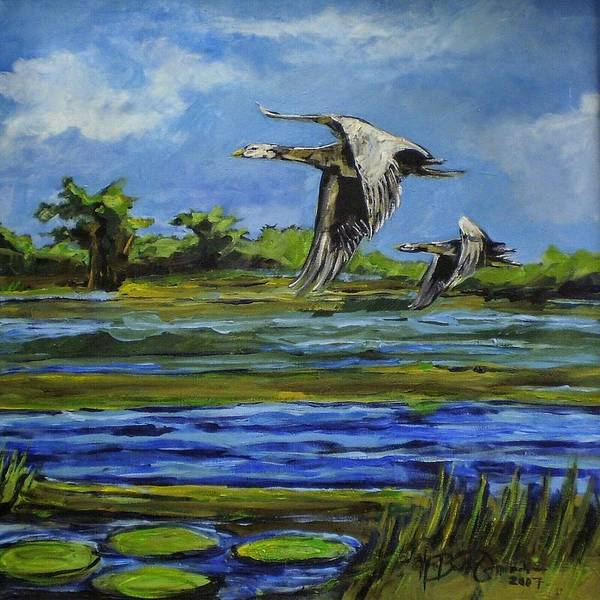 Water Foul Painting - Grey Goose by William Osmundsen