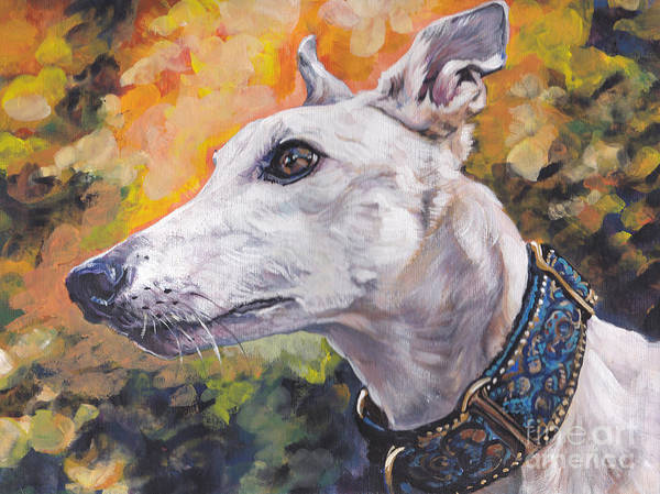 Wall Art - Painting - Greyhound Portrait by Lee Ann Shepard
