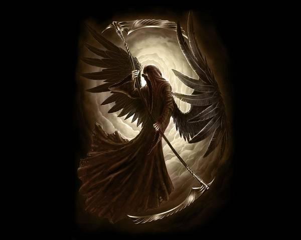 Fractal Digital Art - Grim Reaper by Maye Loeser
