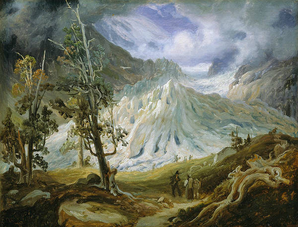 Painting - Grindelwald Glacier by Thomas Fearnley