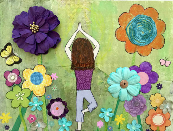 Wall Art - Mixed Media - Ground And Bloom by Shanon Buffington