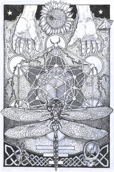 Sacred Geometry Drawing - Grounded by Doug Miller II